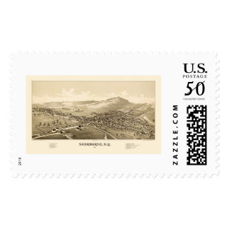 Sherburne, NY Panoramic Map - 1887 Postage