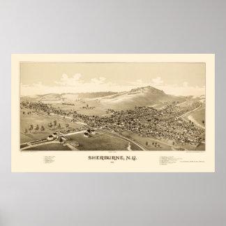 Sherburne, NY Panoramic Map - 1887 Poster