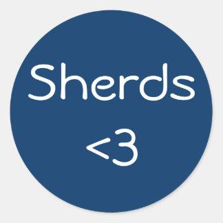 Sherds <3 pegatina redonda