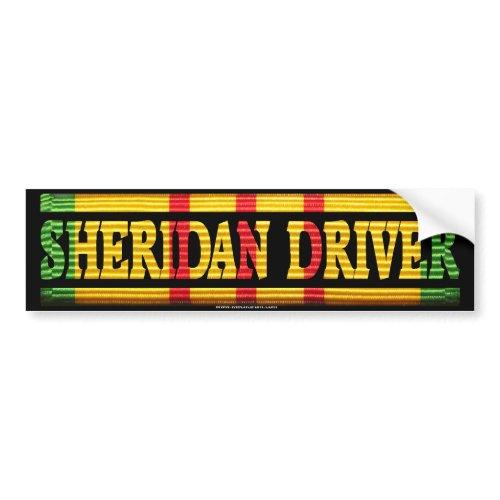 Sheridan Driver Vietnam Service Bumper Sticker bumpersticker