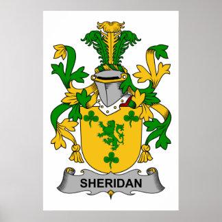 Sheridan Family Crest Poster