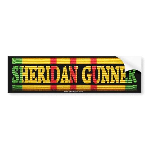 Sheridan Gunner Vietnam Service Bumper Sticker bumpersticker