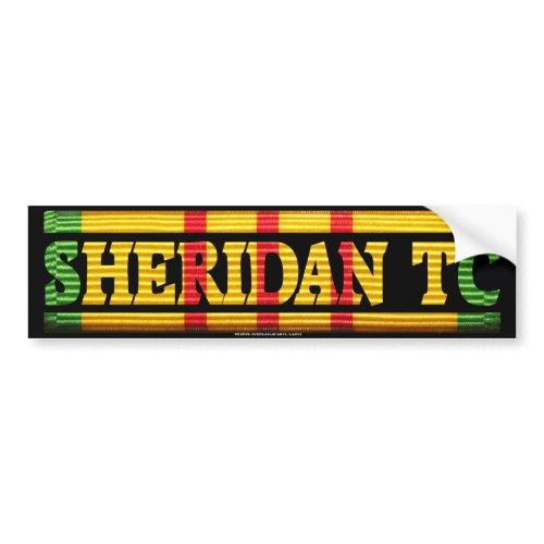 Sheridan TC Vietnam Service Bumper Sticker bumpersticker