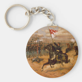 Sheridan's Ride by Thure de Thulstrup Basic Round Button Keychain