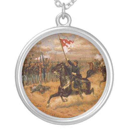 Sheridan's Ride by Thure de Thulstrup Personalized Necklace