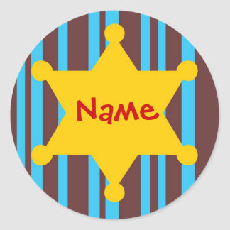 Sherif Badge Customizable Name Sticker