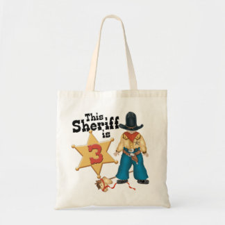 Sheriff 3rd Birthday Tote Bag