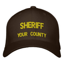 SHERIFF (ADD YOUR COUNTY) EMBROIDERED BASEBALL HAT