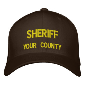 SHERIFF (ADD YOUR COUNTY) EMBROIDERED HAT