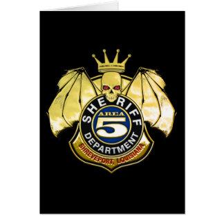 Sheriff Area 5 Badge Card