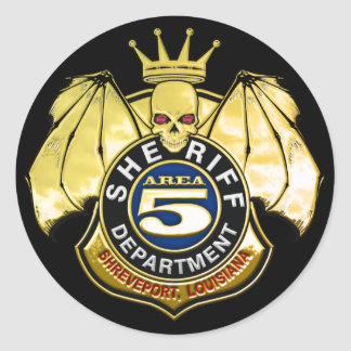 Sheriff Area 5 Badge Classic Round Sticker