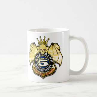 Sheriff Area 5 Badge Coffee Mug
