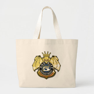 Sheriff Area 5 Badge Large Tote Bag