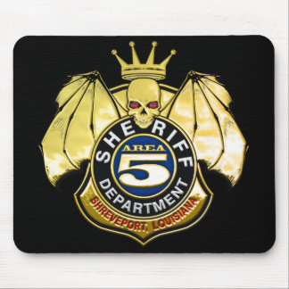 Sheriff Area 5 Badge Mouse Pad