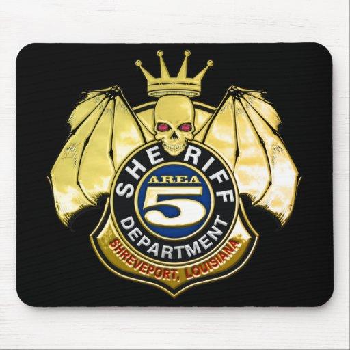 Sheriff Area 5 Badge Mouse Pad