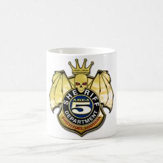 Sheriff Area 5 Badge Classic White Coffee Mug