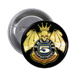 Sheriff Area 5 Badge Pinback Buttons