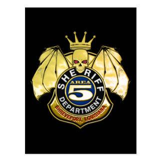 Sheriff Area 5 Badge Post Card