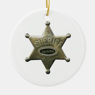 Sheriff Arizona Ceramic Ornament