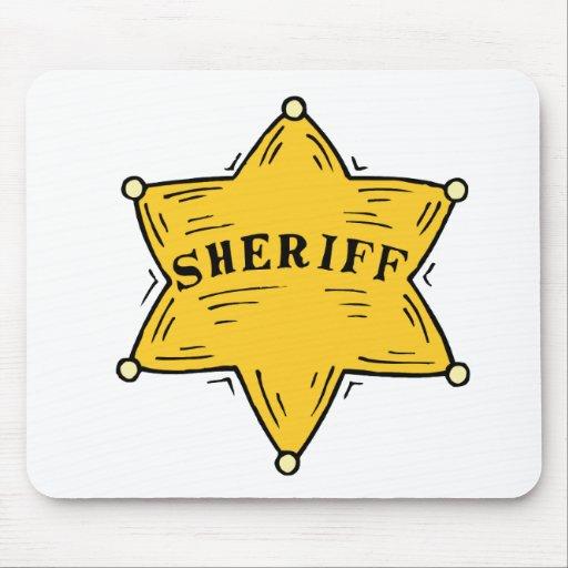 Sheriff Badge Mouse Mats