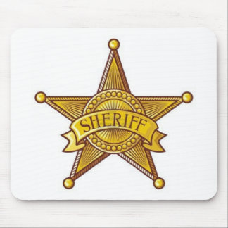 Sheriff Badge Mouse Pad