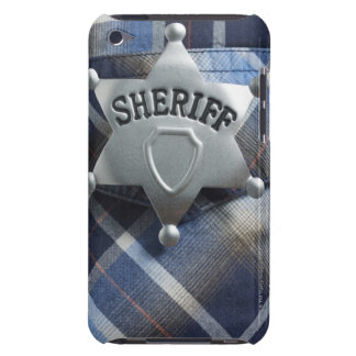 Sheriff Badge on Western Shirt iPod Touch Cover