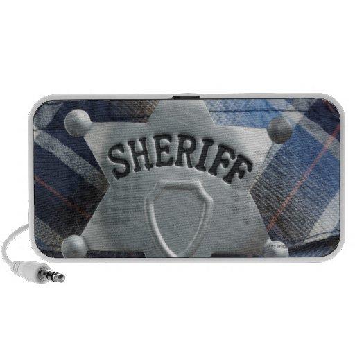 Sheriff Badge on Western Shirt Notebook Speakers