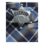 Sheriff Badge on Western Shirt Poster