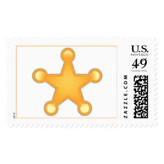 Sheriff Badge Postage Stamp