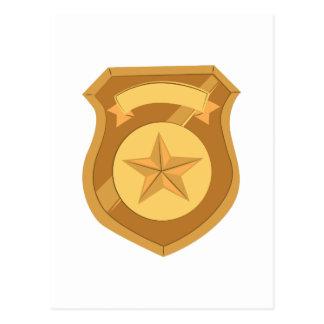 Sheriff Badge Postcard
