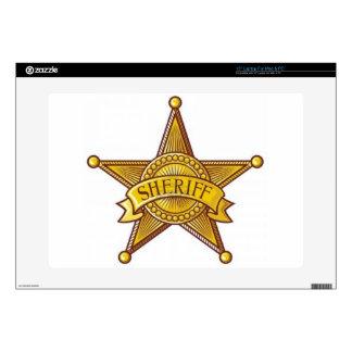 "Sheriff Badge Skin For 15"" Laptop"