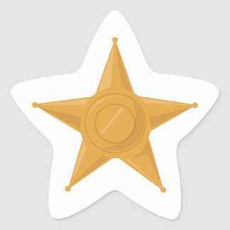 Sheriff Badge Star Stickers