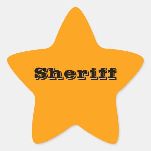 Sheriff Badge Stickers | Zazzle
