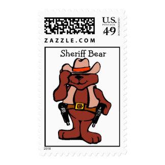 Sheriff Bear - Postage
