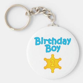 Sheriff Birthday Boy 1 Keychain