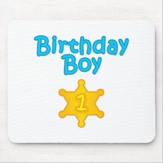 Sheriff Birthday Boy 1 Mouse Pad