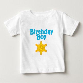 Sheriff Birthday Boy 3 Baby T-Shirt