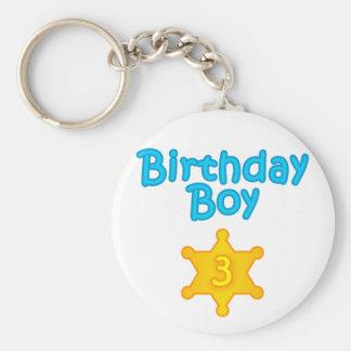 Sheriff Birthday Boy 3 Keychain
