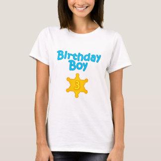 Sheriff Birthday Boy 3 T-Shirt