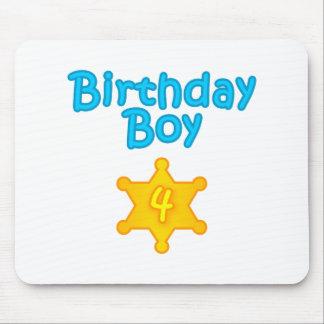 Sheriff Birthday Boy 4 Mouse Pad