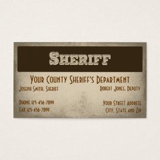 Sheriff Business Card