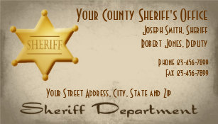 Deputy sheriff badge business cards zazzle sheriff business card colourmoves