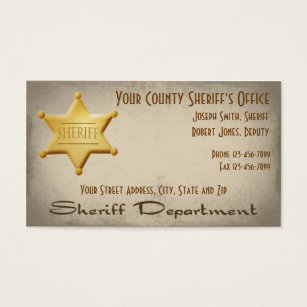 Sheriff business cards templates zazzle sheriff business card colourmoves