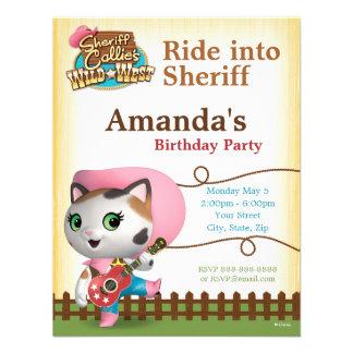 Sheriff Callie's Wild West Birthday Invitation