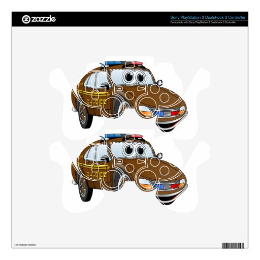 Sheriff Car Cartoon 4 BR PS3 Controller Skin