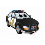 Sheriff Car Cartoon BWB Post Card