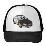 Sheriff Car Cartoon BWB Trucker Hats