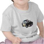 Sheriff Car Cartoon BWB Tshirt