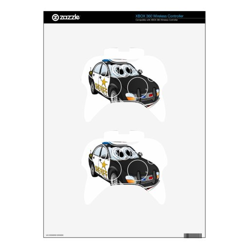 Sheriff Car Cartoon BWB Xbox 360 Controller Skins