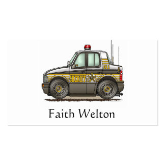 Sheriff Car Patrol Car Business Cards